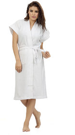 Imported Cotton Bathrobes (White)