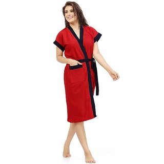 Imported Double Shaded Bathrobes (Red Navy)