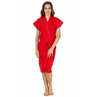 Imported Cotton Bathrobes (Red)