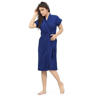 Imported Cotton Bathrobe (Royal Blue)
