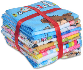 Jars Collections Cotton Multicolor Face Towels  (14X14 Inch) (Combo Of 10)