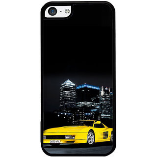 ifasho Stylish Yellow Car Back Case Cover for Apple iPhone 5C