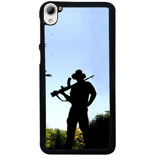 ifasho Army man With Gun Back Case Cover for HTC Desire 826