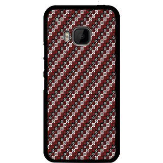 ifasho multi color Triangle rectangle and circle Pattern Back Case Cover for HTC One M9