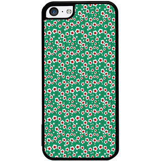 ifasho Pattern green white and red animated flower design Back Case Cover for Apple iPhone 5C