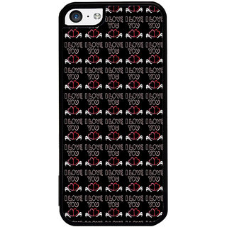 ifasho Animated Pattern With Love and heart and I love you Back Case Cover for Apple iPhone 5C