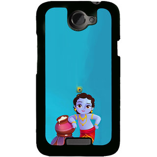 ifasho Lord Krishna stealing curd animated Back Case Cover for HTC One X