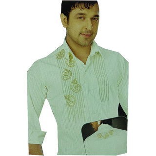 Shirt -Exclusive Party Wear Men's Embroidery Shirt Fabric For Special Occasion