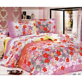 Karona Multi Flower on Multi Base Double Bed Sheet