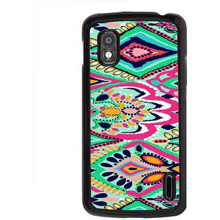 ifasho Modern Art Design animated cloth Pattern of flower Back Case Cover for LG Google Nexus 4