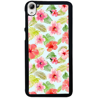 ifasho Animated Pattern mander flower with leaves Back Case Cover for HTC Desire 826