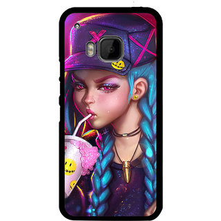 ifasho Girl drinking cold drink Back Case Cover for HTC One M9