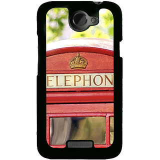 ifasho Telephone booth  Back Case Cover for HTC One X