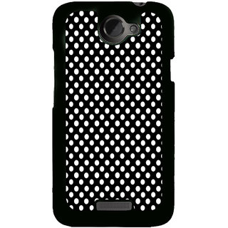 ifasho Modern Theme of white dots in black background Back Case Cover for HTC One X