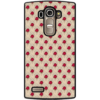 ifasho Animated Pattern small red rose flower Back Case Cover for LG G4