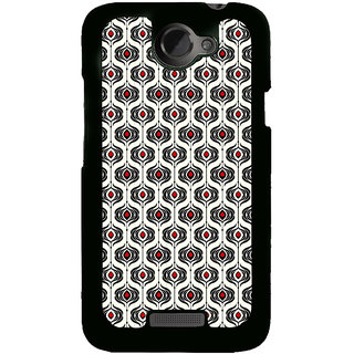 ifasho Modern Theme of royal design in black and white pattern Back Case Cover for HTC One X