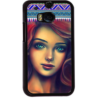 ifasho Gorgeous Winking Girl Back Case Cover for HTC One M8