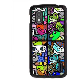 ifasho Modern Art Design Pattern Lot of fish Back Case Cover for LG Google Nexus 4