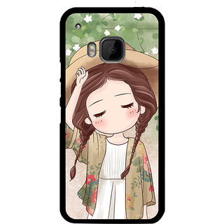 ifasho Lovely Girl with Hat Back Case Cover for HTC One M9