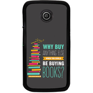 ifasho Good messge on Books Back Case Cover for Moto E
