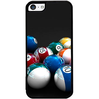 ifasho Design colourful biliards ball pattern Back Case Cover for Apple iPhone 5C