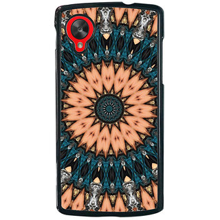 ifasho Animated Pattern design colorful flower in royal style Back Case Cover for LG Google Nexus 5