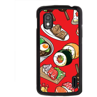 ifasho Animated food pattern Back Case Cover for LG Google Nexus 4