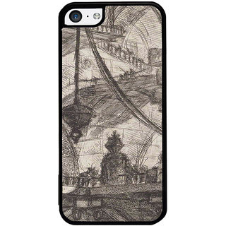 ifasho Modern art painting of city Building  Back Case Cover for Apple iPhone 5C