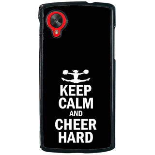 ifasho Nice Quote On Keep Calm Back Case Cover for LG Google Nexus 5