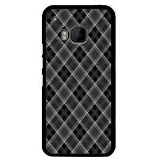 ifasho Design lines pattern and square pattern Back Case Cover for HTC One M9