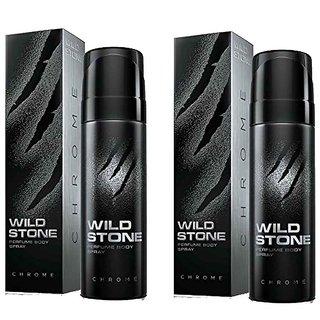 Wild Stone Chrome Body Spray (pack of 2) 120ml each