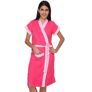 Imported Double Shaded Cotton Bathrobes (Rani)