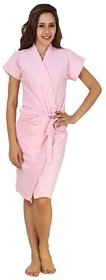 Imported Cotton Bathrobe (Pink)
