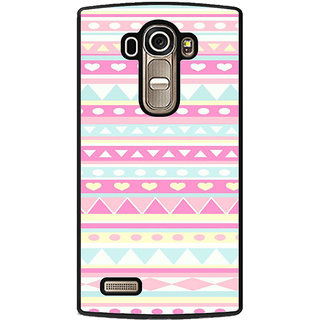 ifasho multi color Triangular and love Pattern Back Case Cover for LG G4