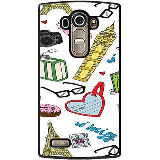 ifasho Modern Art Design Pattern camera box spec love tower Back Case Cover for LG G4
