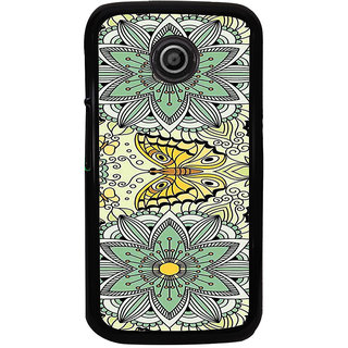ifasho Animated Pattern colrful flower and butterfly Back Case Cover for Moto E2