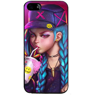ifasho Girl drinking cold drink Back Case Cover for Apple iPhone 5