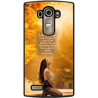 ifasho young Girl with quote Back Case Cover for LG G4