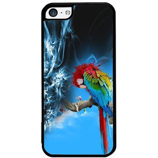 ifasho Parrot In Animation Back Case Cover for Apple iPhone 5C