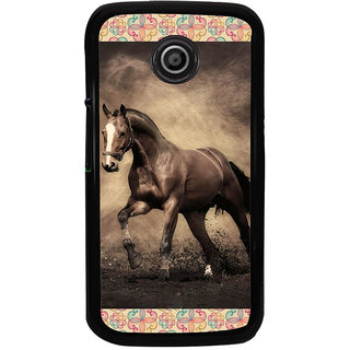 ifasho Brown Horse Back Case Cover for Moto E
