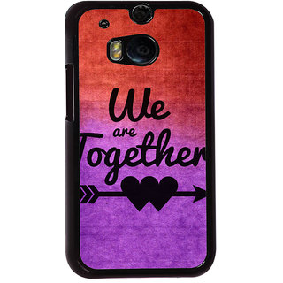 ifasho We are together Back Case Cover for HTC One M8