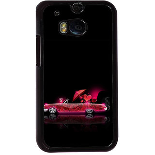 ifasho heart riding animated car Back Case Cover for HTC One M8