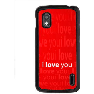 ifasho Love Quotes I love you Back Case Cover for LG Google Nexus 4