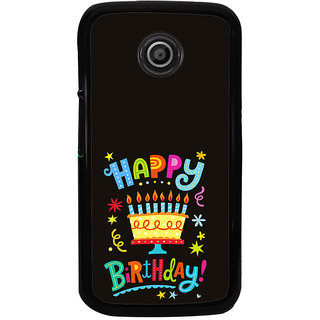 ifasho Wishing Happy birtday For Occassion Back Case Cover for Moto E2