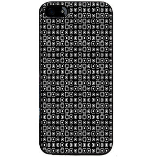 ifasho Modern Theme of black and white dots inside Square Back Case Cover for Apple iPhone 5