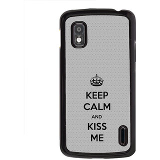 ifasho Nice Quote On Keep Calm Back Case Cover for LG Google Nexus 4