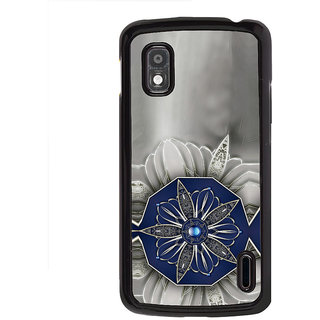 ifasho Animated Pattern design black and white diamond in royal style Back Case Cover for LG Google Nexus 4