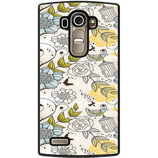 ifasho Animated Pattern colrful design flower and cage and birds Back Case Cover for LG G4