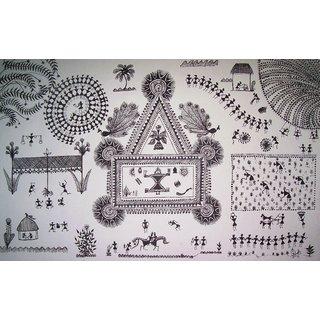 Warli Art, Original Piece handmade