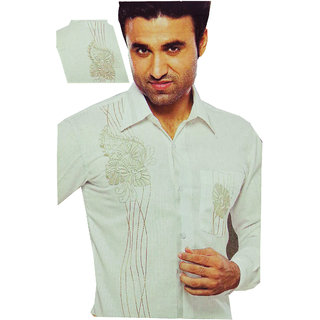 Shirt -Exclusive Paaty Wear Men's Embroidery Shirt Fabric For Special Occasion